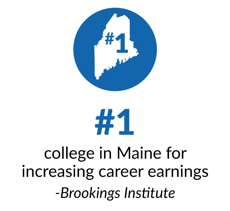 Number one college in Maine for increasing career earnings - Brookings Institution