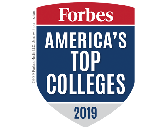 Forbes America's Top Colleges badge