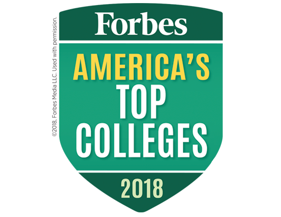 2017 Forbes America's Top Colleges badge