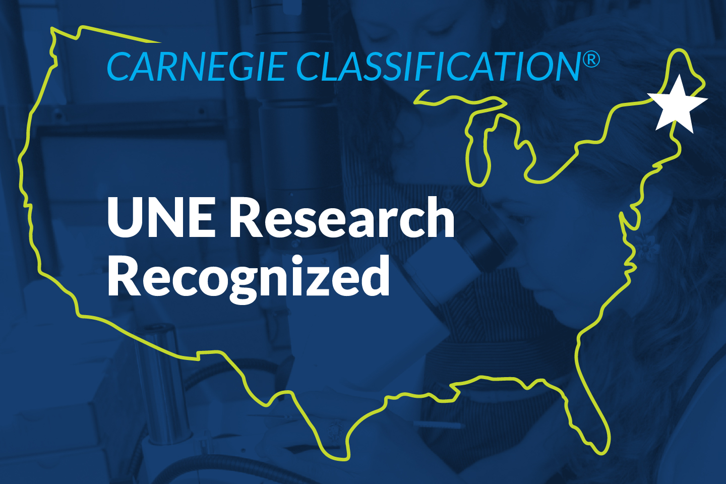 U N E Research Award from Carnegie Classification graphic