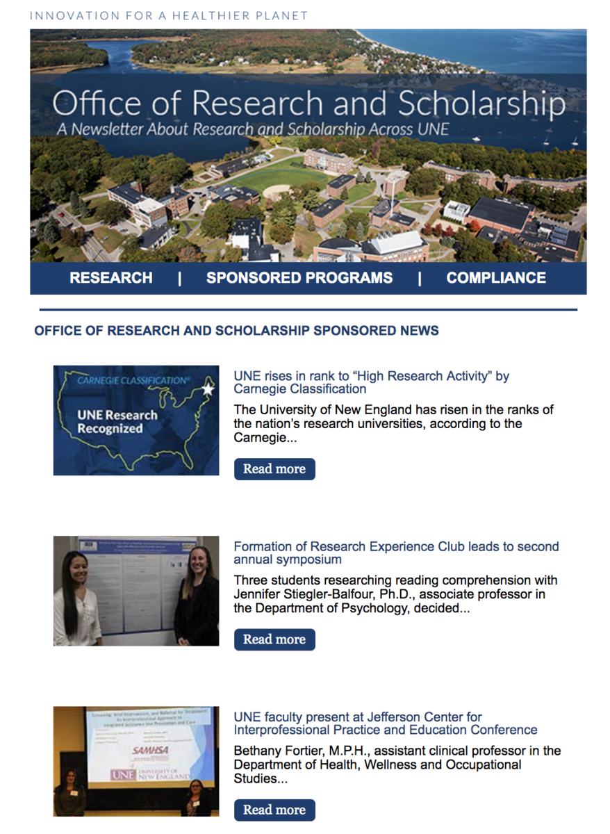 Research and Scholarship Newsletter