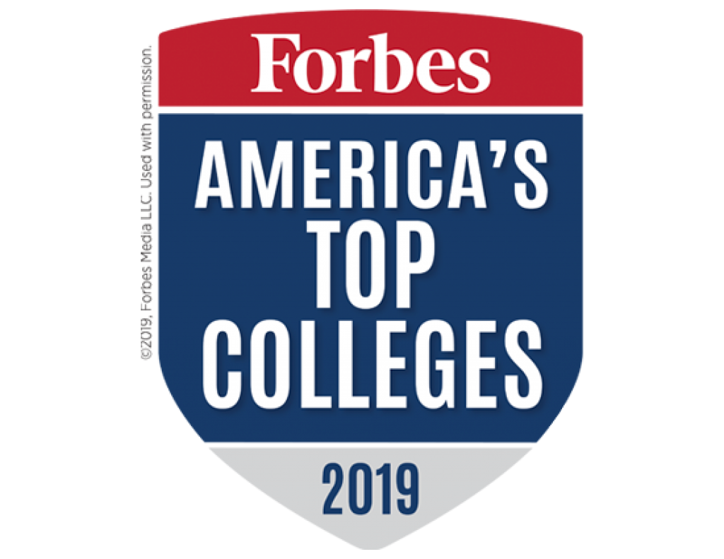 Forbes America's Top Colleges 2019 Badge
