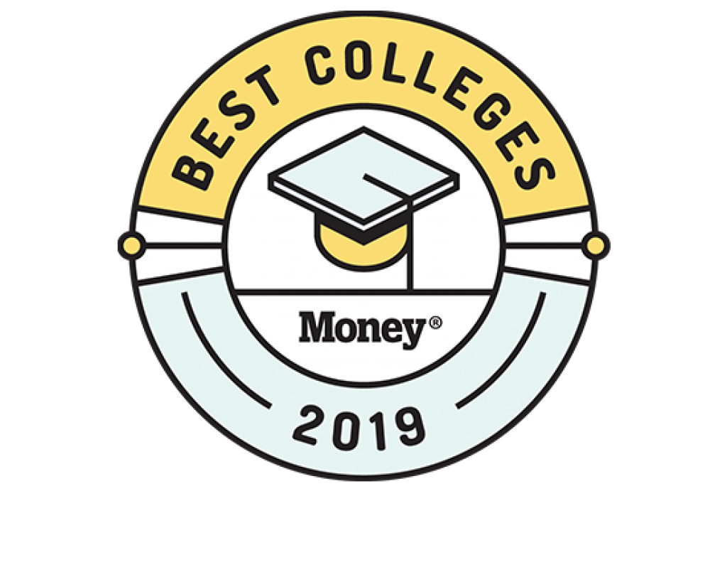 Money magazine best colleges 2019 badge
