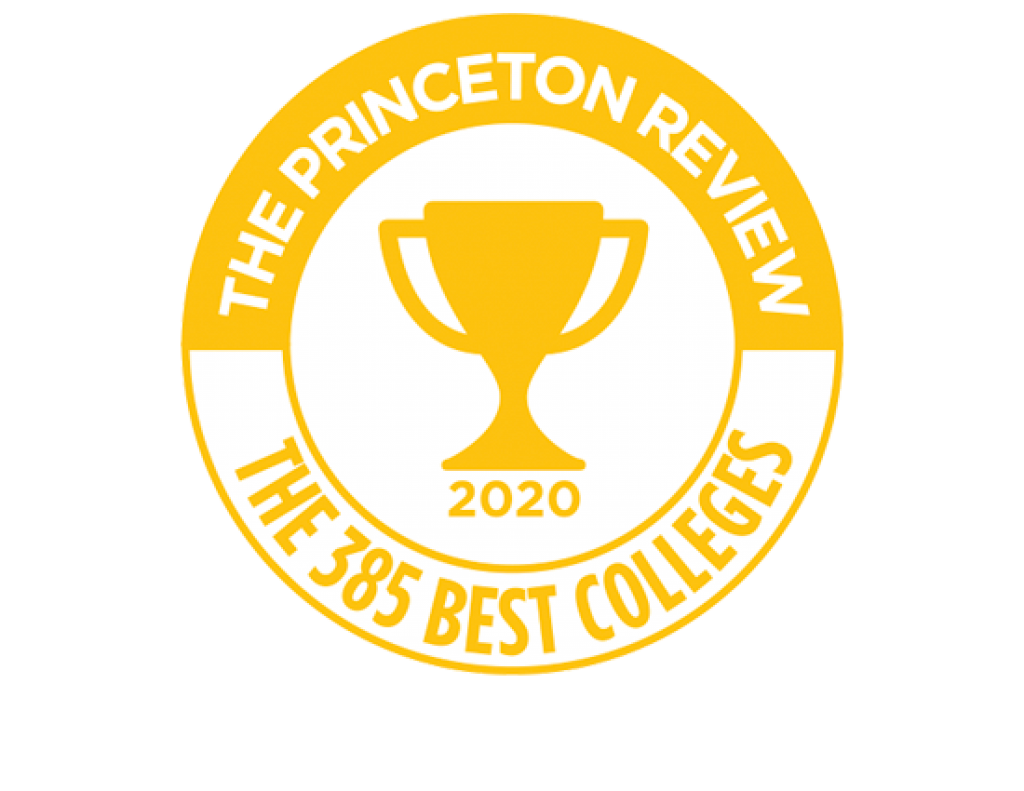 Princeton Review The 385 Best Colleges 2020 badge