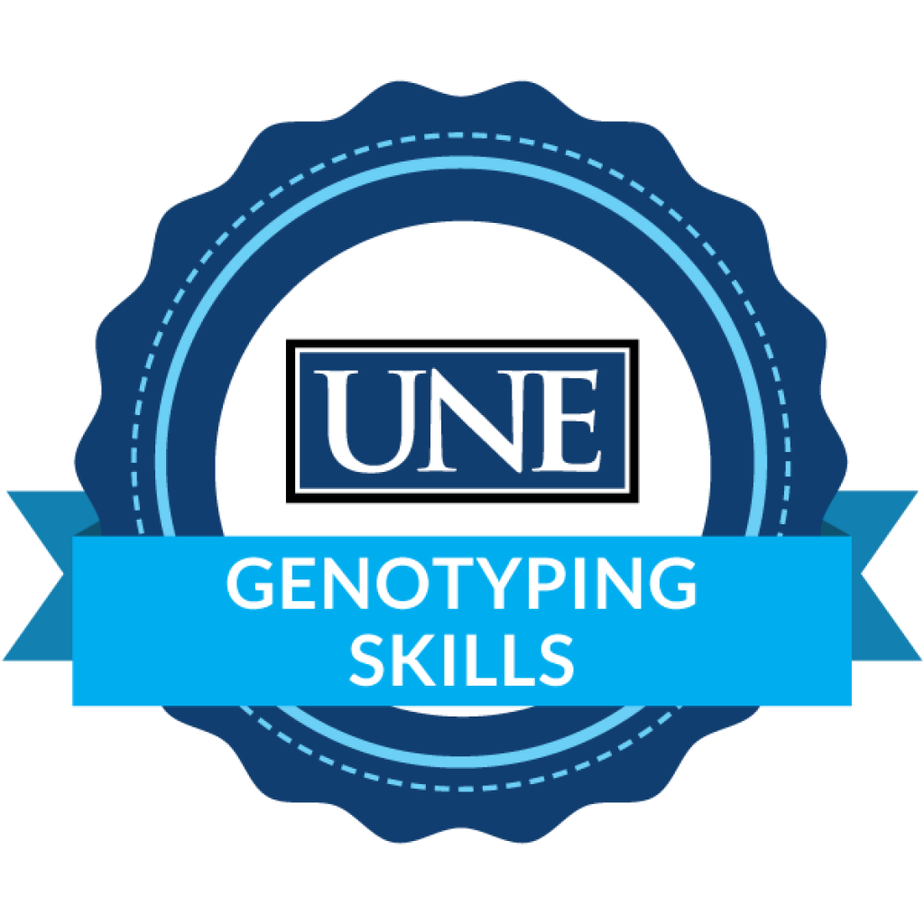une badging program genotyping skills badge icon