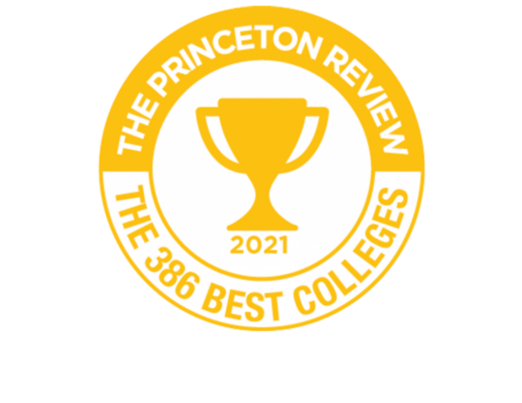 the princeton review 386 best colleges badge