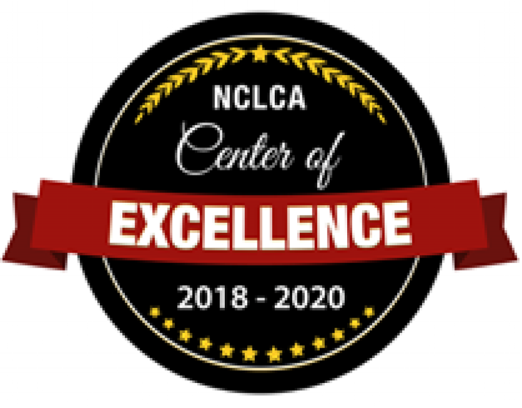 n c l c a center of excellence 2018-2020 badge