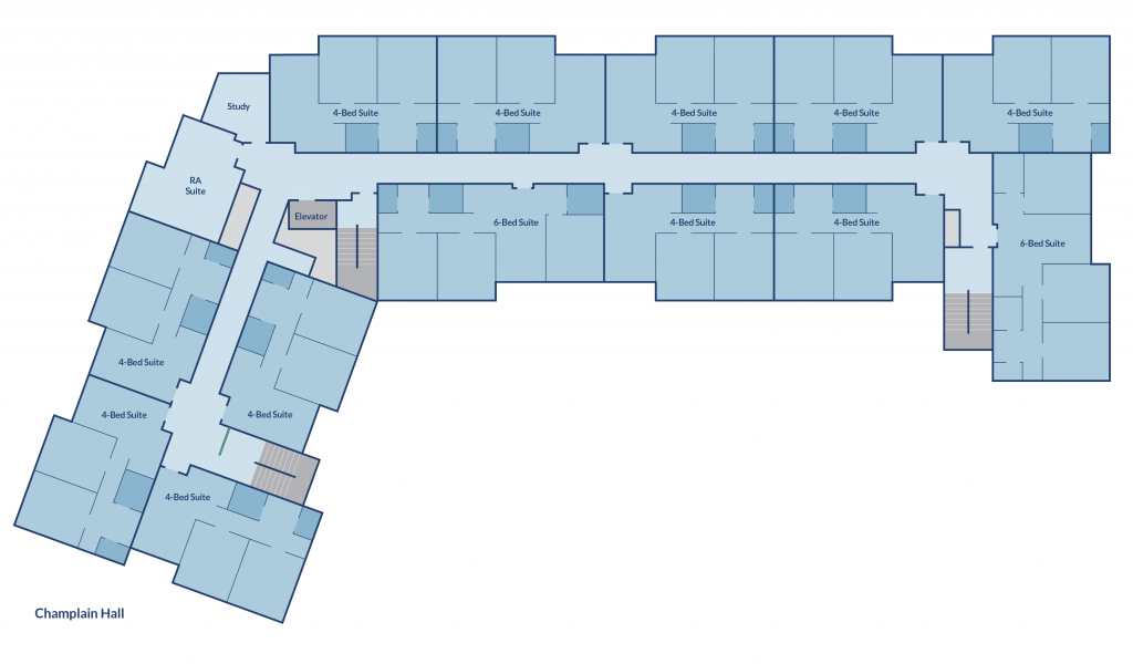 Floor plan of Champlain Hall