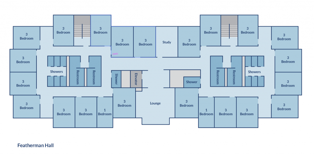 Floor plan of Featherman Hall
