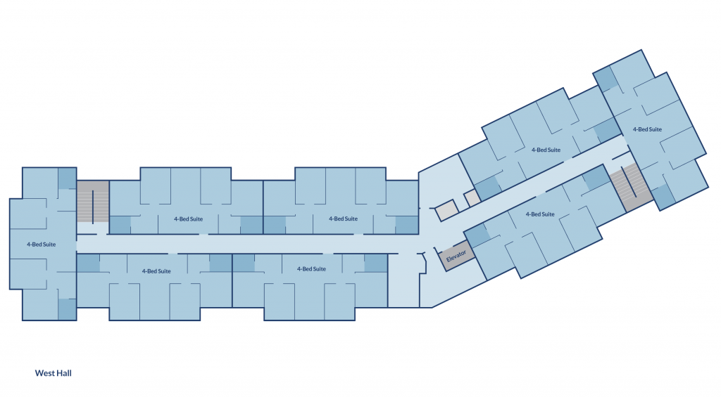 Floor plan of West Hall