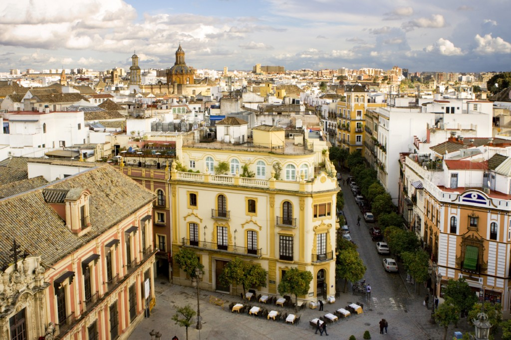 Aerial view of Seville, Spain