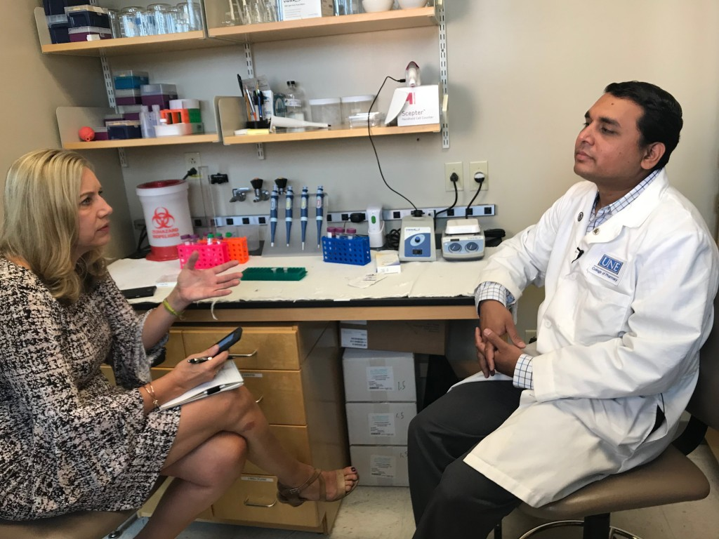 Srinidi Mohan speaks with WCSH's Vivien Leigh about his research
