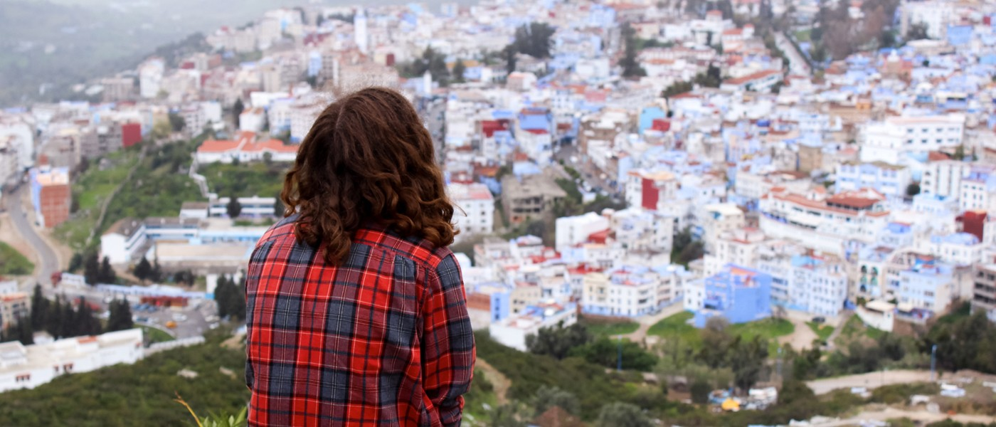A female student overlooks the Tangier