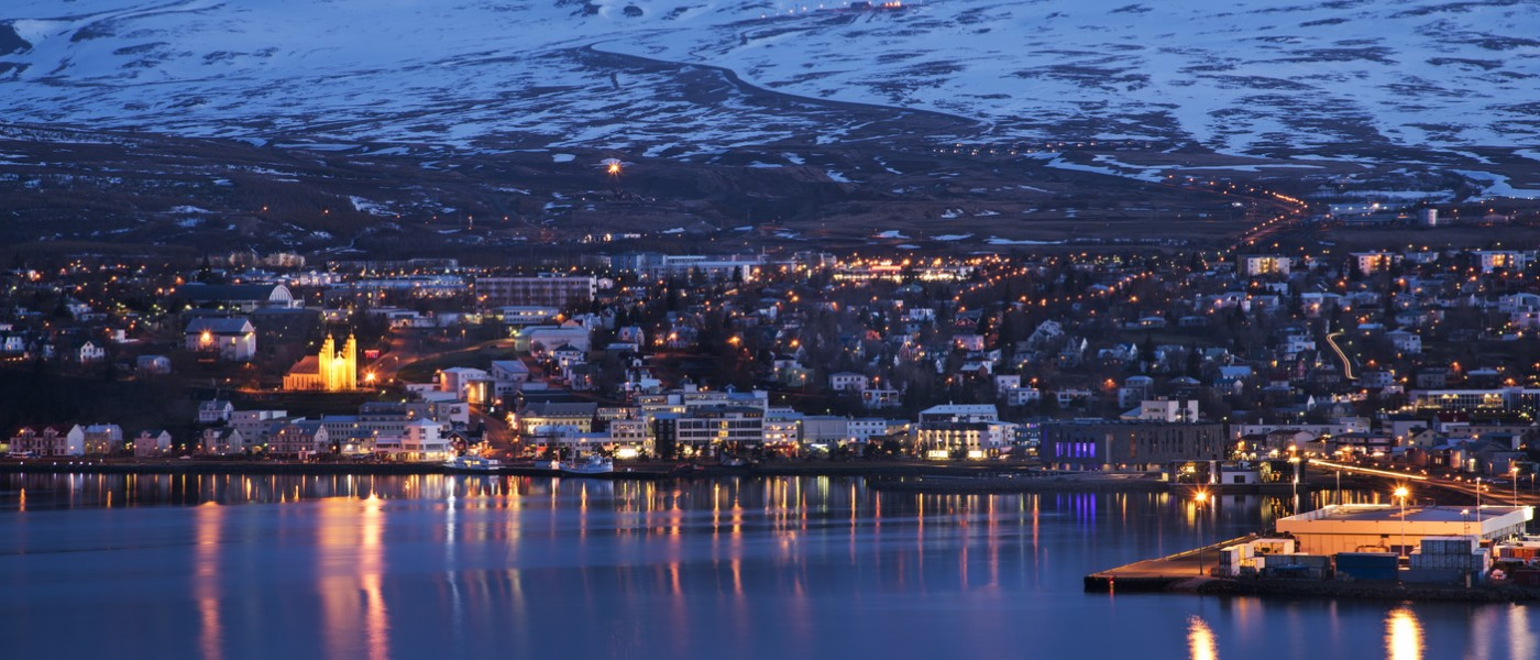 Akureyri City at Night