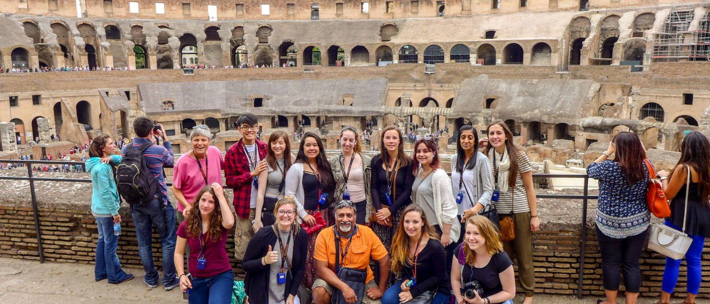 UNE Students in Greece and taly 2016