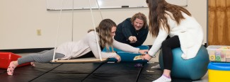 students in the occupational therapy lab