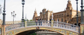 UNE students in Seville Spain