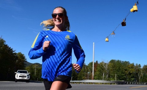Tiana Thomas ran the Boston Marathon — in Maine — on Sept. 12.