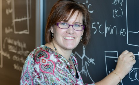 Amy Deveau, associate professor and assistant chair of the Department of Chemistry and Physics