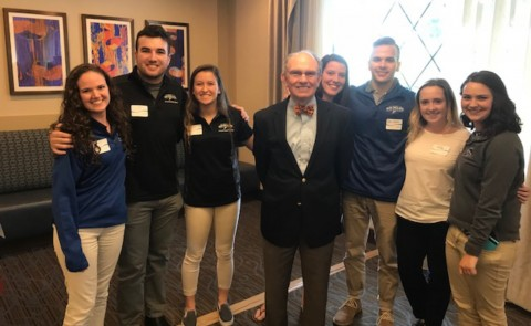 UNE students with the keynote speaker Paul Thompson