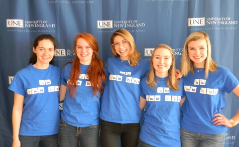 Members of the UNE Chemistry Club at the Maine Science Festival