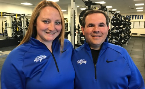 UNE's Lyndie Kelley and Heath Pierce discussed the importance of strength training on Maine Calling