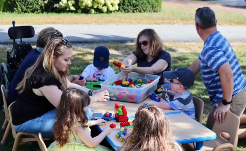 A record number of parents and children attended this year's LEND picnic