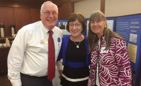 CEAH's Tom Meuser with U.S. Senator Susan Collins and former UNE faculty member Kristen Thomsen