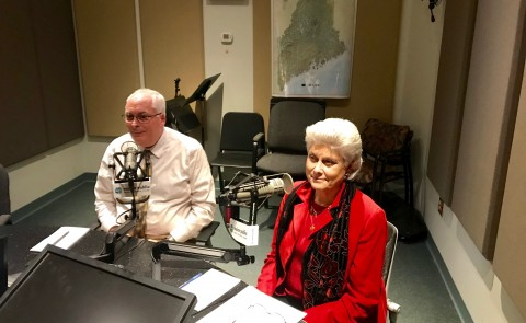 Tom Meuser and Marilyn Gugliucci were guest panelists on Maine Calling's program on centenarians