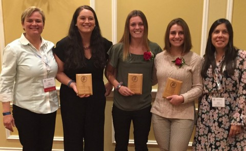 UNE students were recently recognized with the Outstanding Future Professional Awards
