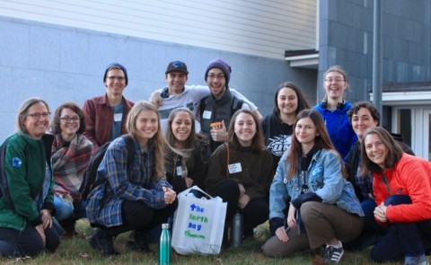 UNE students joined more than 120 students from across Maine to collaborate on action to mitigate the effects of climate change