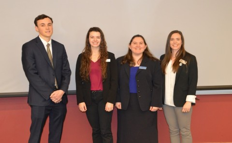 The team comprised of students Adrian Hale, Sarah Barbay, Bethany Gruskin, and Dahne Yaitanes captured first place