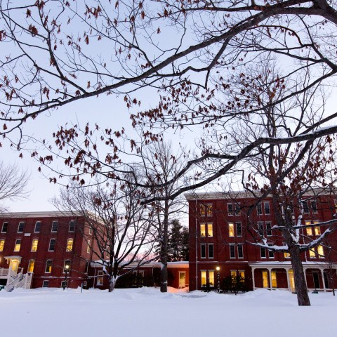 Portland Campus in winter